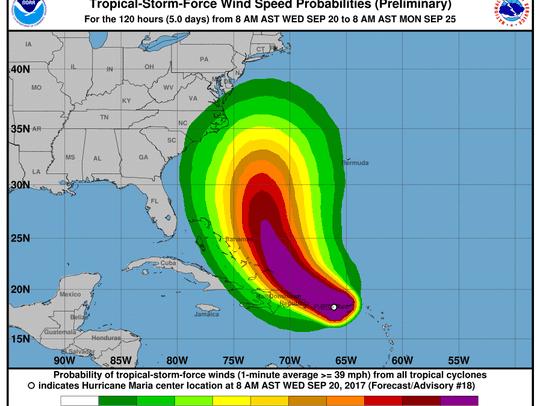 Hurricane Maria 11 a.m. Sept. 20, 2017