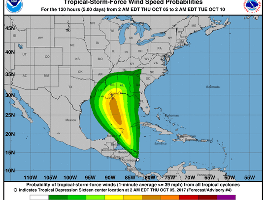 TD 16 is expected to hit hurricane status by Sunday.
