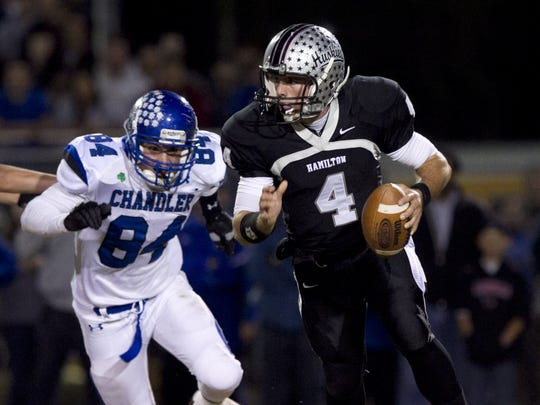 Ex-Chandler Hamilton quarterback Blake Kemp is one
