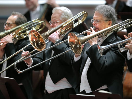 Indianapolis Symphony Orchestra musicians perform in