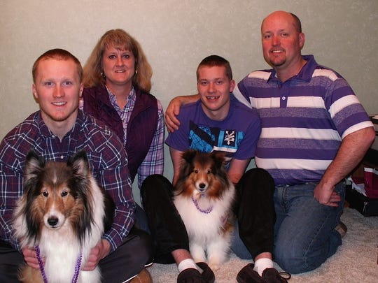 The Micolichek family of Fond du Lac. From left: Alex,
