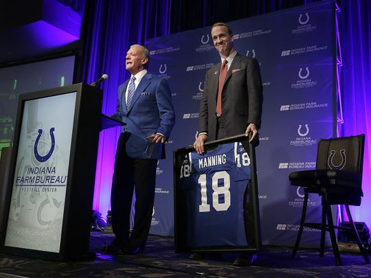 Peyton Manning's No. 18 was retired by Colts owner