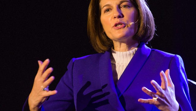 Catherine Cortez Masto during an interview in the TEDxUniversityofNevada event on Saturday, Jan. 27, 2018 at the Reno-Sparks Convention Center in Reno.