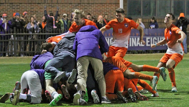 Clemson hosted Maryland in the NCAA tournament Elite Eight friday, december 4, 2015.