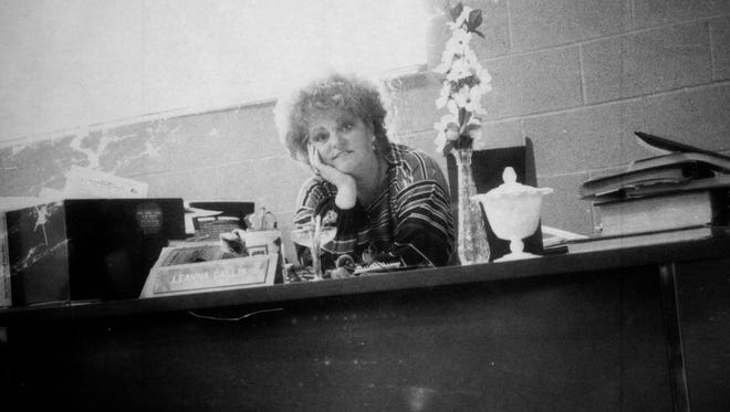 Leanna Callis is pictured at her desk at The Bulletin. A mainstay for over 20 years as a columnist and reporter. Callis died Friday at the age of 79.