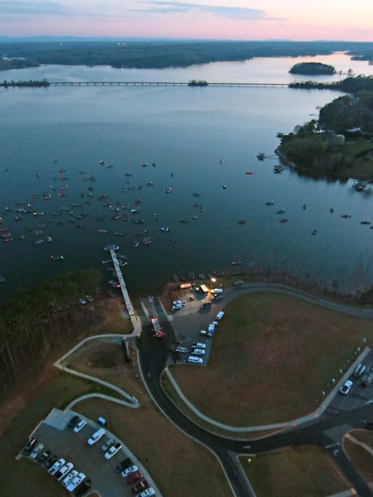 FLW Fishing launch at Green Pond Boat Ramp in Anderson on Lake Hartwell
