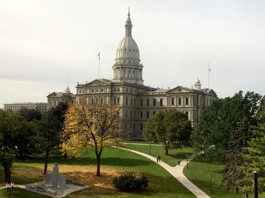 The Michigan state Capitol in Lansing on Oct. 26, 2017.