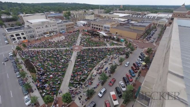 Screen capture from drone video taken by Wausau Region Chamber of Commerce.