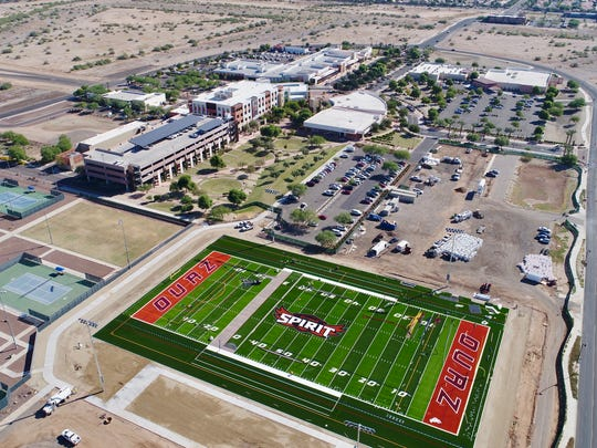 A bird's-eye view of Spirit Field, which is near the Surprise Civic Center off Bullard Avenue.