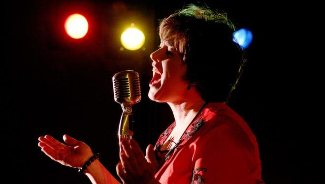 Cassie Wiesner performs in the Cassie and the Bobs tribute show to the music of Patsy Cline.