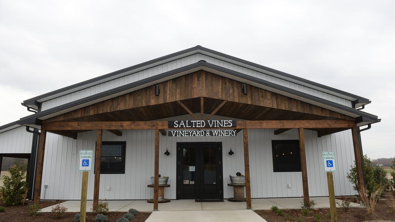Katie Duke pours wine tasting samples on Friday, Nov.
