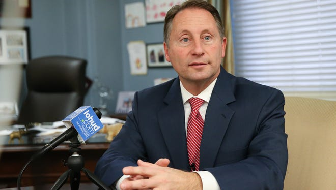 County Executive Rob Astorino gives an interview at the Westchester County Office Building on Tuesday, December 12, 2017.