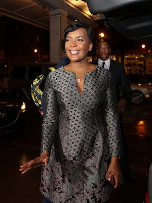 Atlanta mayoral candidate Keisha Lance Bottoms arrives for an election-night watch party Tuesday, Dec. 5, 2017, in Atlanta.