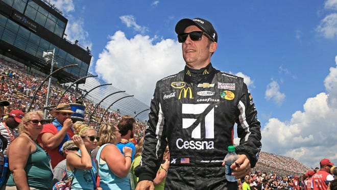 Jamie McMurray clinched his Chase berth when he took the green flag Saturday night.