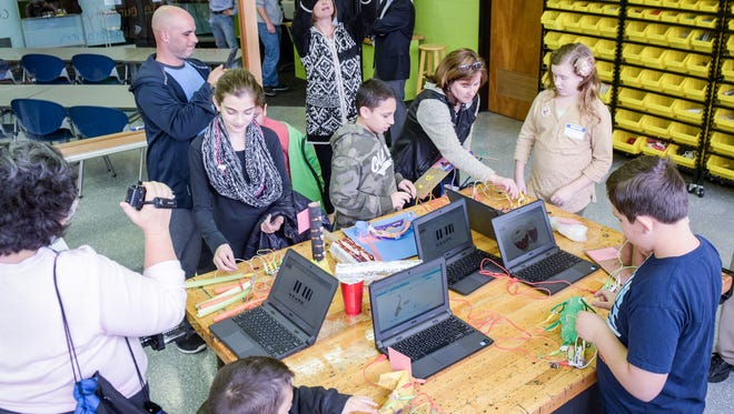 Toms River Regional Schools teamed with Office Depot to create a High Tech Makerspace from what was the former woodshop room at Toms River Intermediate School East in Toms River, NJ. Photo was taken on Saturday, March 19, 2016. /Russ DeSantis for the Asbury Park Press / Slug:ASB 0320 Toms River Schools