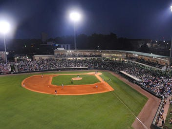A view of Fluor Field from the Field House