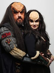 Paul Stacy and his wife Liza Stacy bring Star Trek Klingons to life recently in Fort Myers.
