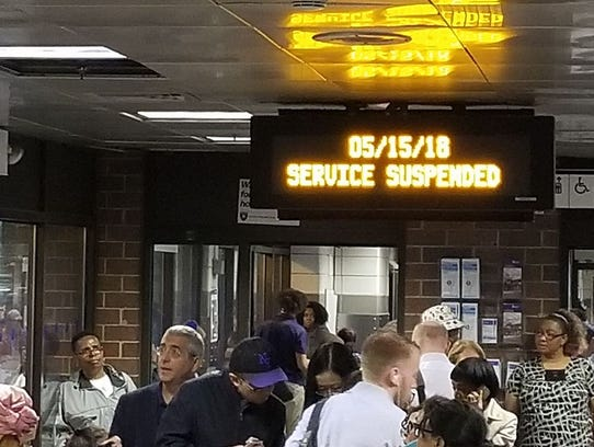 The White Plains train station is packed.