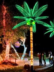Miles de luces adornan el zoológico de Phoenix en el