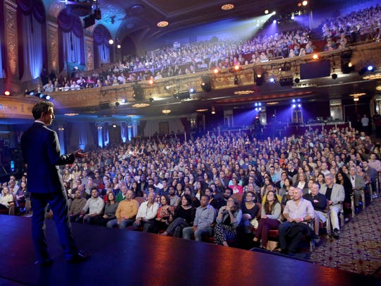 "Seth Meyers brought NBC's ""Late Night"" to the Warner Theatre in Washington, D.C. last week."