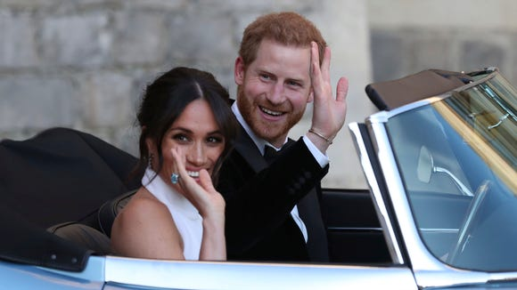 The newly married Duke and Duchess of Sussex, Meghan