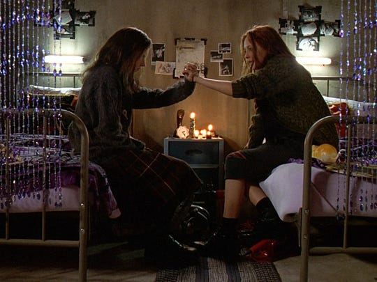 "Emily Perkins (left) and Katharine Isabelle in ""Ginger Snaps."""