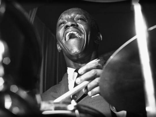 Jazz percussionist Art Blakey.