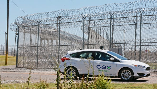 GEO Group Inc. will pay 16 former employees for enduring kissing, grabbing, pinching and verbal abuse at an Arizona prisons in Florence.