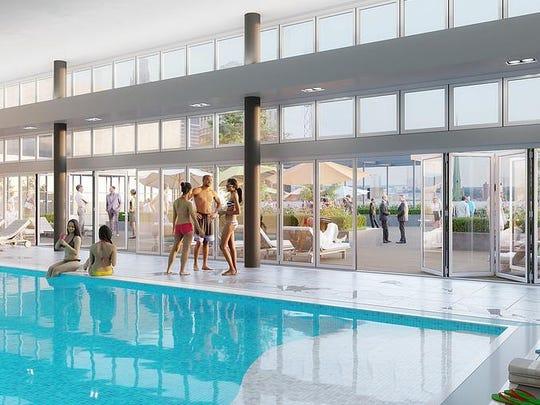 Ashton Detroit pool rendering.