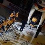 The Nashville Predators face the Pittsburgh Penguins on Tuesday at Bridgestone Arena.