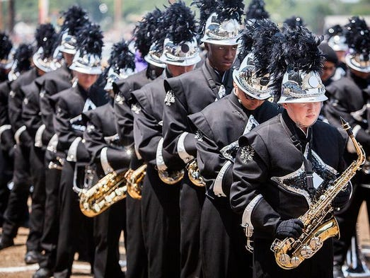 Central, Yorktown, Monroe Central, Winchester and Jay County competed along with other schools during Band Day at the Indiana State Fair August 2014.