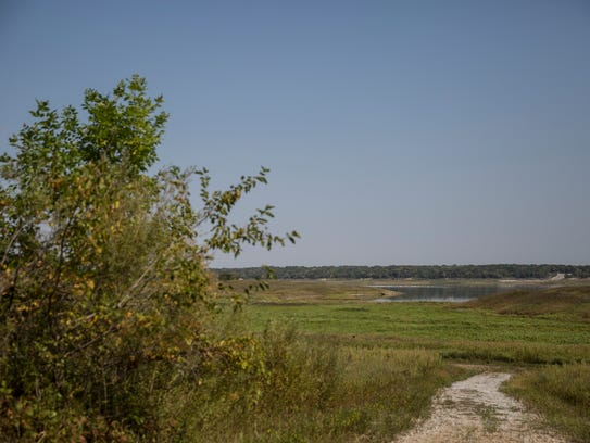 The view of Saylorville Lake from the Jester Park Equestrian