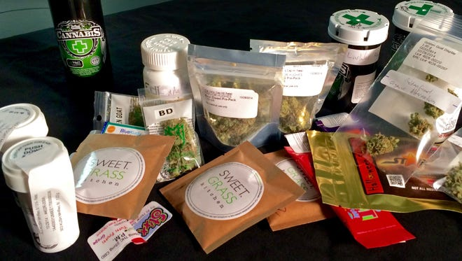 A pile of marijuana and pot-infused edibles sit on a table in a lab before undergoing potency testing. A USA TODAY investigation found wide variability in the strength of Colorado's commercially available marijuana edibles, with most products containing significantly less THC than advertised.