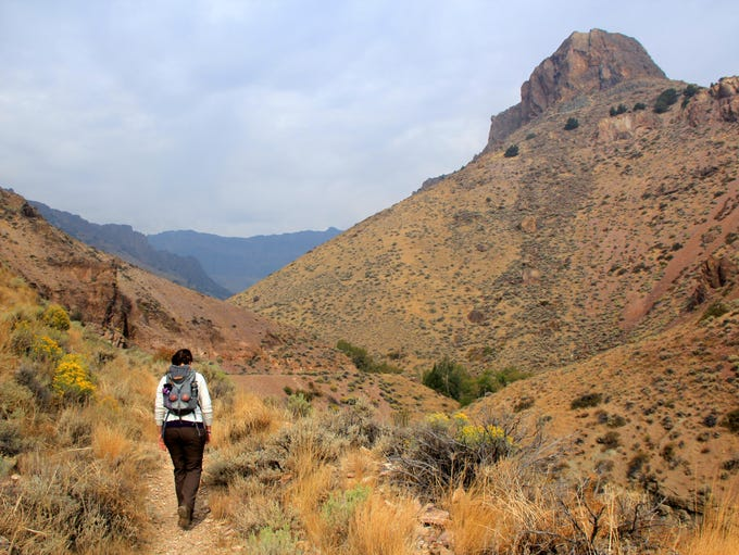 Pike Creek Canyon is a brightly colored place for hiking on the east end of Steens Mountain.