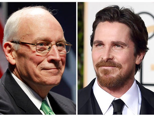 In this combination photo, former Vice President Dick Cheney, left, appears at the Conservative Political Action Conference (CPAC) in Washington, on Feb. 10, 2011, and actor Christian Bale appears at the 73rd annual Golden Globe Awards in Beverly Hills, Calif. Bale has confirmed that he will play Cheney in Adam McKay's planned biopic of the former vice president.