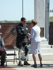 U.S. Rep. Marcy Kaptur thanks Sgt. First Class (Ret.)