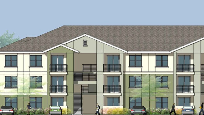 A rendering of an affordable housing project targeting people who make 60 percent area median income.