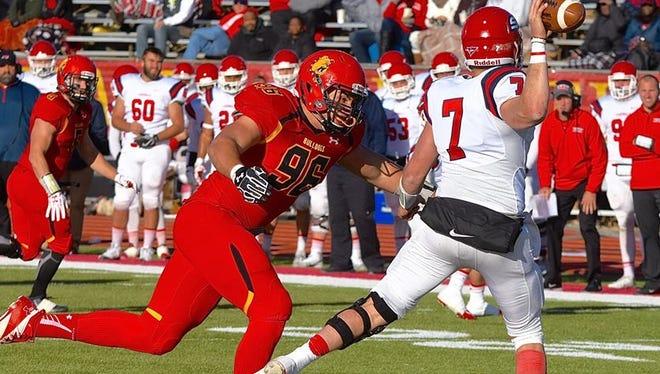 Ferris State defensive lineman Zach Sieler