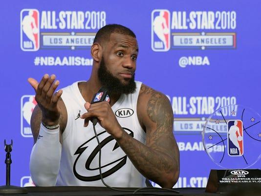 NBA: All Star Game-Team LeBron at Team Stephen