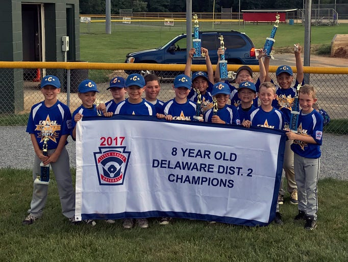 District 2 8-year-old baseball champions: Canal Little