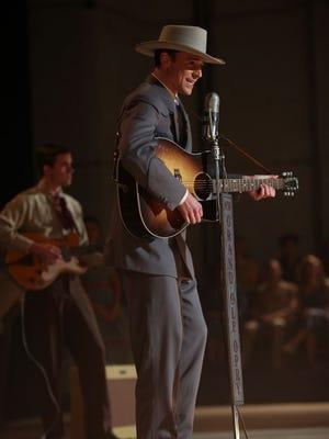 "Tom Hiddleston portrays music legend Hank Williams in ""I Saw the Light."""