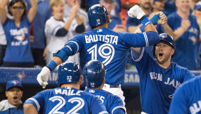Blue Jays outfielder Jose Bautista has rebounded from a slow start to hit nine of his 10 home runs in May.