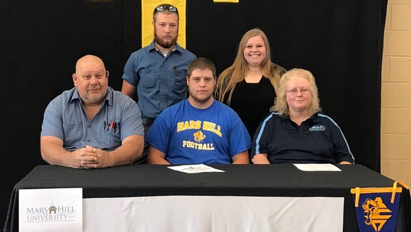 Tuscola senior Austin Goforth signed to play college