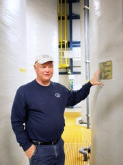 Steve Turner, a water plant operator III, discusses the chemicals used to treat the water at North Fork water treatment plant February 21, 2017.