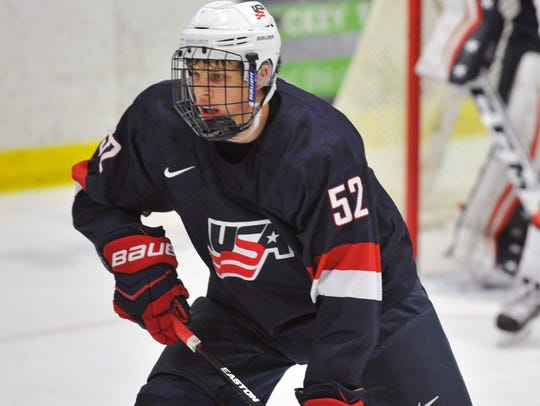 Forward Griffin Luce will play on the NTDP Under-18