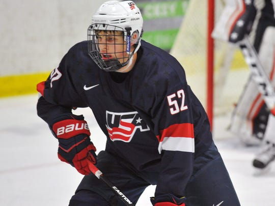 Forward Griffin Luce will play on the NTDP Under-18 team this season. He has committed to play for the Michigan Wolverines.