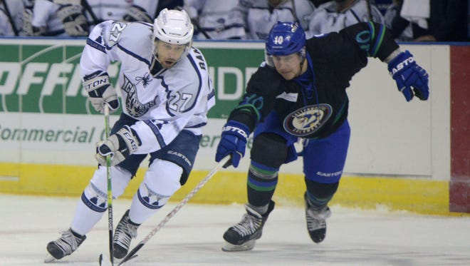 Leading scorer Corey Banfield is one of the returning players this season with the Ice Flyers.