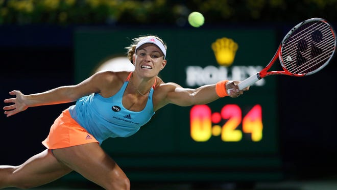 Angelique Kerber, of Germany, is assured of staying at No. 1 in the WTA rankings at least for the next two weeks.