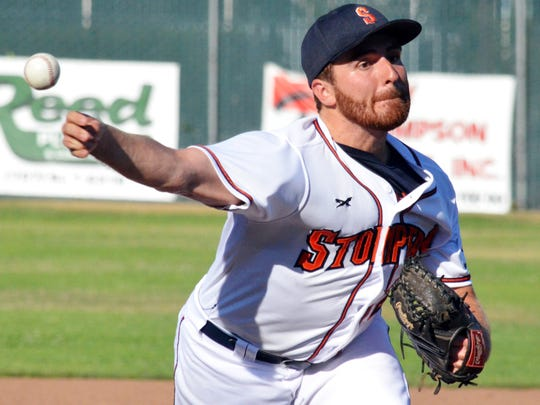Sonoma Stompers pitcher Sean Conroy, the first openly
