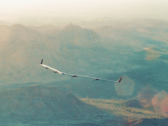 Facebook says Aquila  remained in the air at low altitudes
